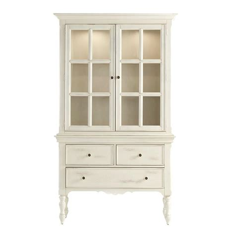 homesullivan margot touch light wood china cabinet in