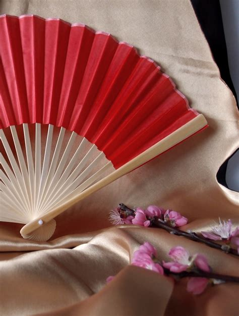 Handmade Fans For Weddings - 9 quot folding silk fan for weddings on sale
