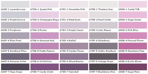 shades of purple paint lavender paint colors chart house paint color chart