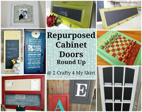 Cabinet Door Projects 2 Crafty 4 My Skirt Up Repurposed Cabinet Doors