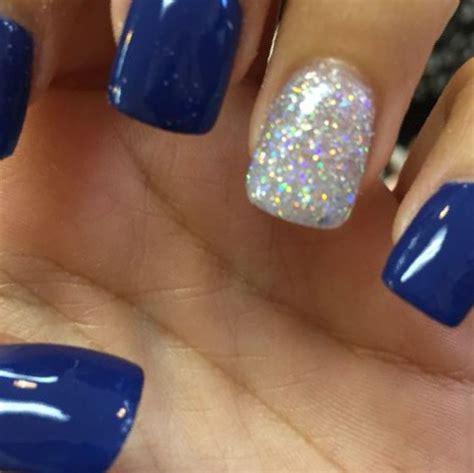 Blue Acrylic Nail Designs