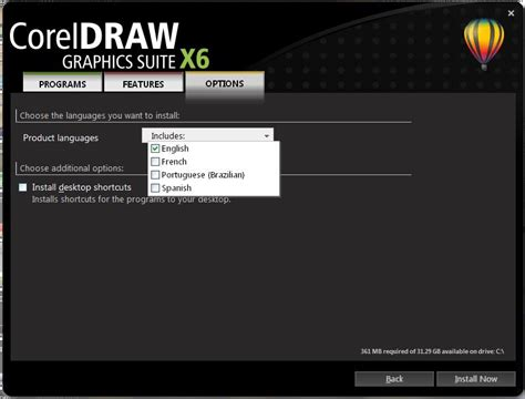 corel draw x6 language change how to install additional programs in corel draw