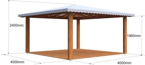 gazebo in legno 4x4 gazebo in legno 4x4 in lamellare a 4 acque made in italy