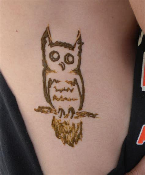 owl henna tattoo henna owl makedes