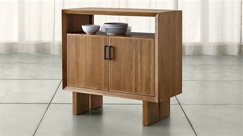 Walnut Small Sideboard monarch solid walnut small sideboard crate and barrel