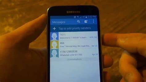 samsung galaxy s5 messaging app