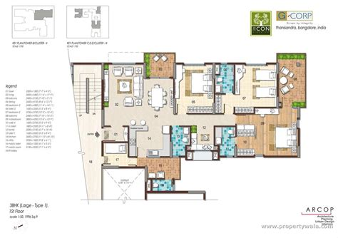 floor plan com g corp the icon thanisandra bangalore residential