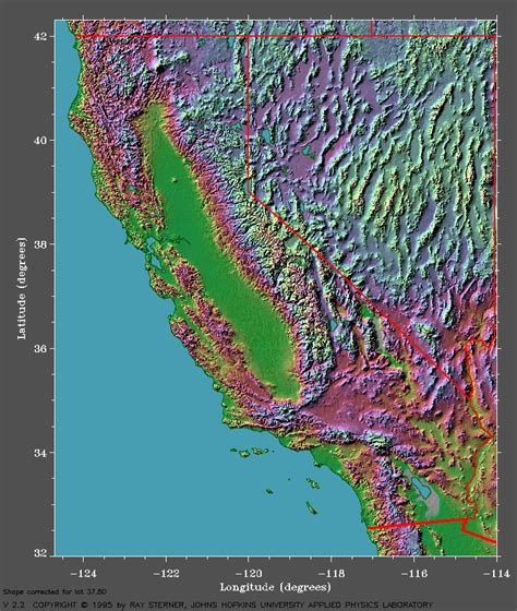 san francisco relief map california maps