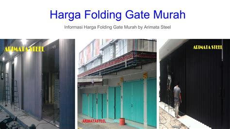 Folding Gate Murah Jakarta Selatan 081293497239 harga folding gate besi galvallum rp per meter