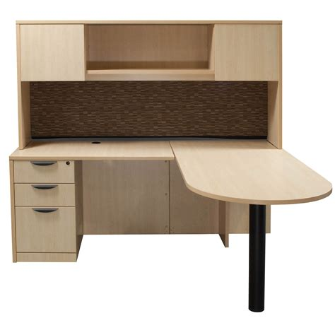 l shaped desk with hutch left return laminate left