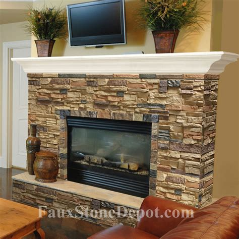 Rocks For Fireplace fireplace the on cheap faux panels