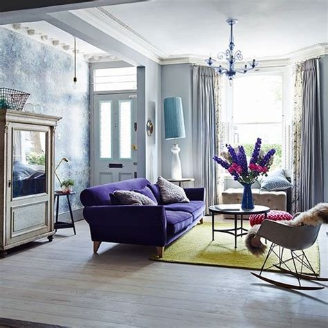 Living Room With Purple Sofa 1000 Ideas About Purple Sofa On Chairs Purple Bathrooms And Transitional Living Rooms