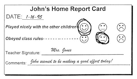 daily report card template for adhd daily report card template for adhd image collections templates design ideas