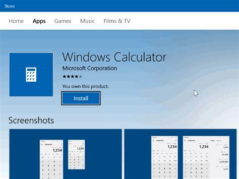 install windows 10 calculator reset and reinstall calculator in windows 10