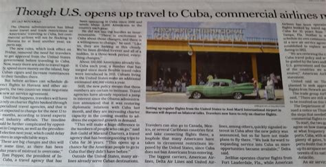new york times travel new york times quot travel to cuba eases but airlines will