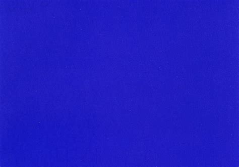 Klein Blue by What Was It With Yves Klein And Blue Agenda Phaidon