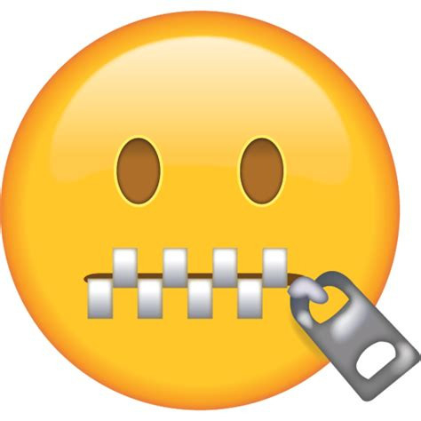 Emoji Zipped Mouth | zipper mouth face emoji in png when somebody tells you to