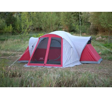 coleman bristol weathertec 8 person family cing tent w