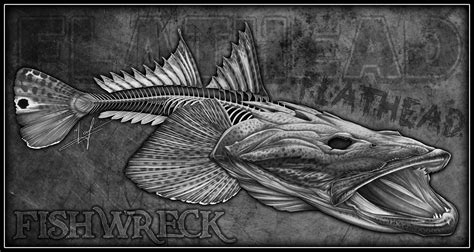 dusky boat stickers dusky flathead australian gamefish skeleton for paul shaw