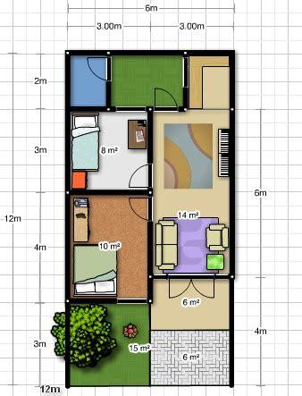 desain rumah ukuran 6x12 meter desain rumah gratis di lahan 6 x 12m arsitektur rumah