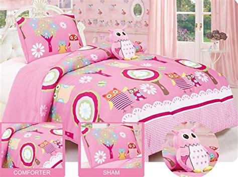 full size owl friends comforter set with matching sham and