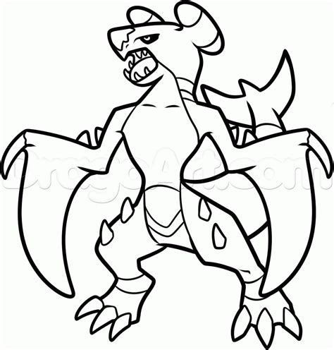 Garc Homp Colouring Pages Garchomp Coloring Pages