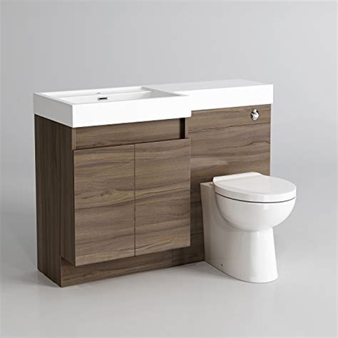 Toilet And Sink Vanity Unit by 1200mm Walnut Vanity Unit Modern Toilet Bathroom Sink