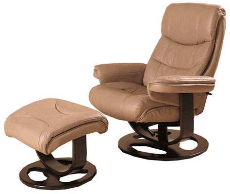 rebel leather recliner and ottoman 18521