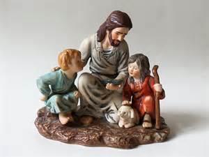 vintage porcelain fisherman figurine jesus homco masterpiece