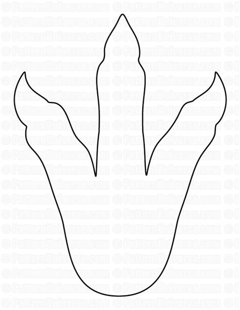 dinosaur footprint template printable dinosaur patterns images