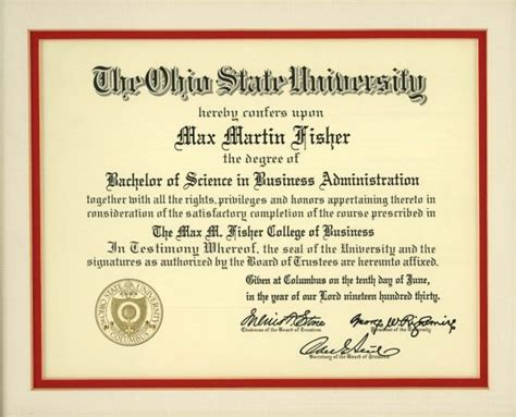 Does Ohio State An Mba Program by Ohio State Degree Max Fisher
