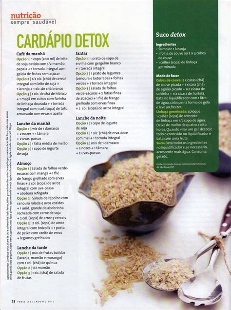 Detox Dieta Cardapio by 19 Best Images About Dieta Detox On Pique