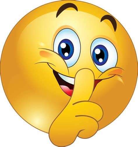 emoji quiet shh smiley face clipart