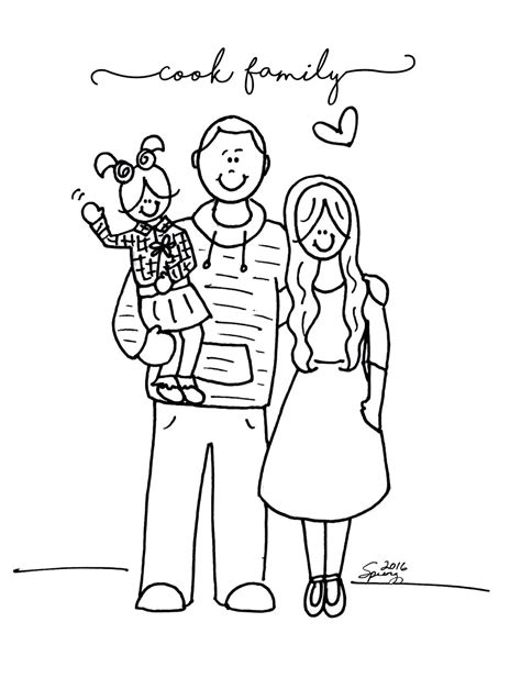 family portrait coloring page spring time treats christmas portraits 2016