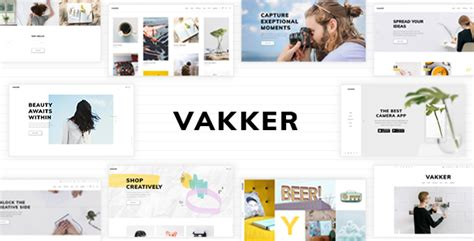 themeforest after effects vakker a creative theme for designers and agencies