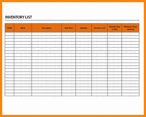 supply list template 11 office supply inventory list template resumed