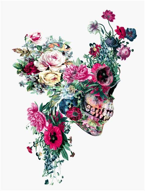 Flower Skull colorful floral skull illustrations by riza peker designwrld