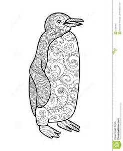 Coloring Book Mandala Penguin Coloring Book For Adults Vector Stock Vector