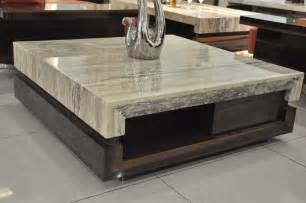 Modern marble coffee table in nice living room