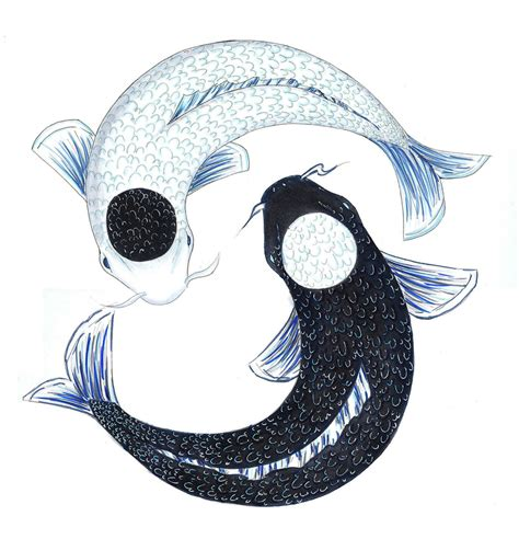 koi fish yingyang by winch3s7er on deviantart