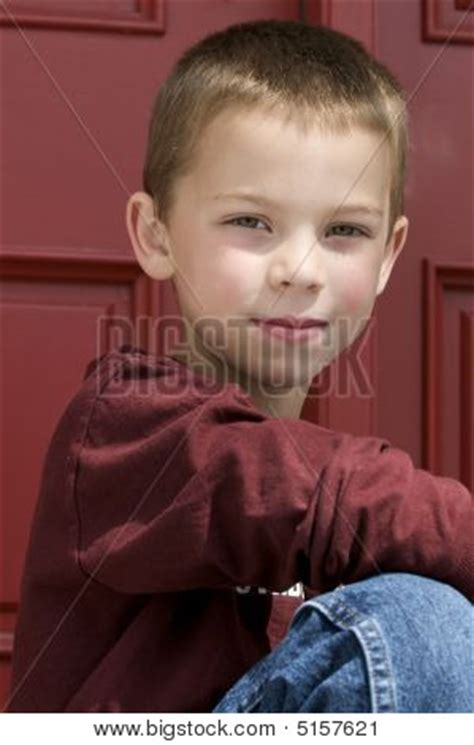 Cutie Boy 6 blond 6 year boy stock photo stock images