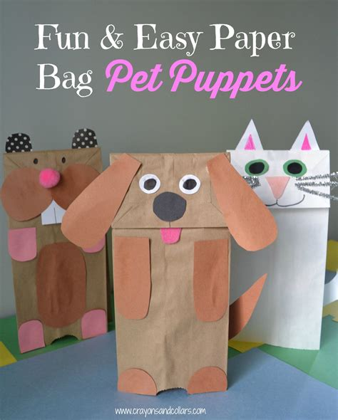 Easy Way To Make Paper Bag - easy paper bag puppets you can make with household items