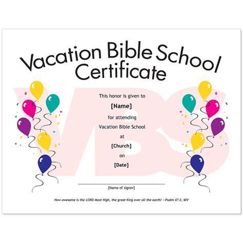 vbs certificate template essential church certificates children s edition