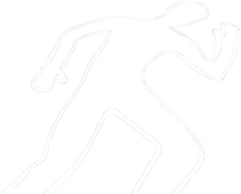 Dead Outline Png by Pics For Gt Black Chalk Outline