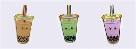 Boba Tea Gift Card - milk tea green tea and taro boba pins giantrobotstore