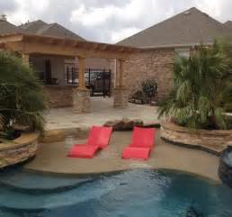in pool chaise lounges luxury pools