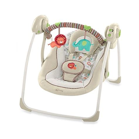 bright start comfort and harmony swing comfort harmony cozy kingdom portable swing buybuy baby