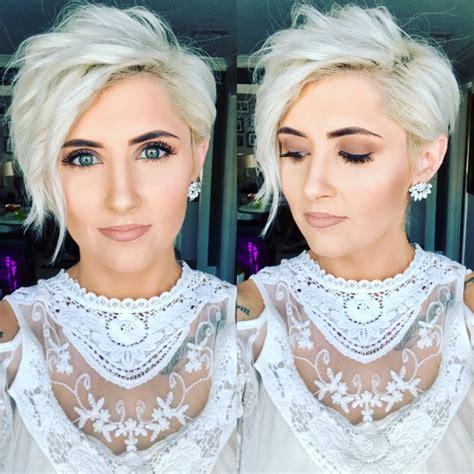 Eyeliner White Pixy the 25 best platinum pixie ideas on