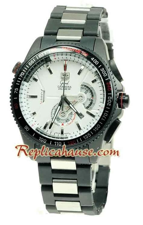Tag Heur Grand Carera Calibre 36 Rubber With Date Mesin Transparant tag heuer grand calibre 36 wristwatch tagh51 at a