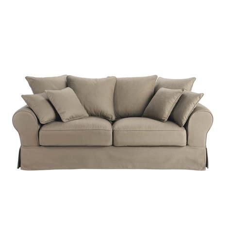 divano trasformabile color talpa in cotone 3 posti bastide
